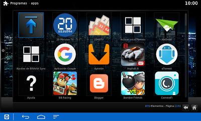 3.- Y listo!! Aquí están todas las apps instaladas en el televisor listas para ser lanzadas. Más fácil imposible.